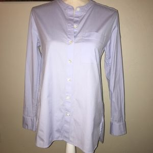 Theory Baby Blue Maybeth Button Down Shirt Size Sm